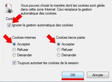 Etape 3 de l'accepation des cookies - Marche.Fr